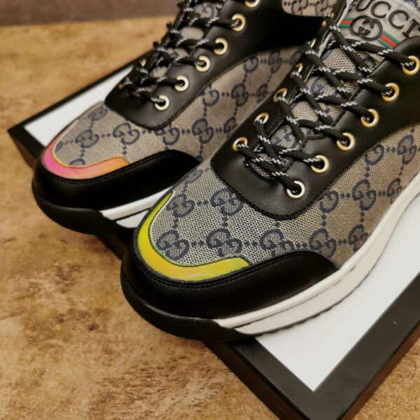 Giày gucci cổ thấp cao cấp họa tiết gc màu ghi