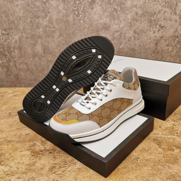 Giày gucci cổ thấp cao cấp họa tiết gc màu trắng