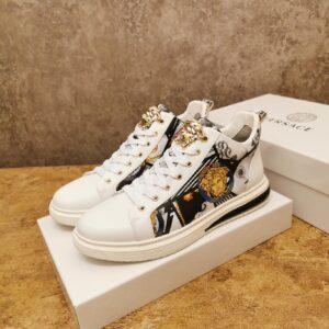 Giày Versace màu trắng họa tiết classic