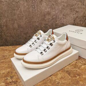 Giày Versace cổ thấp màu trắng khóa logo Versace