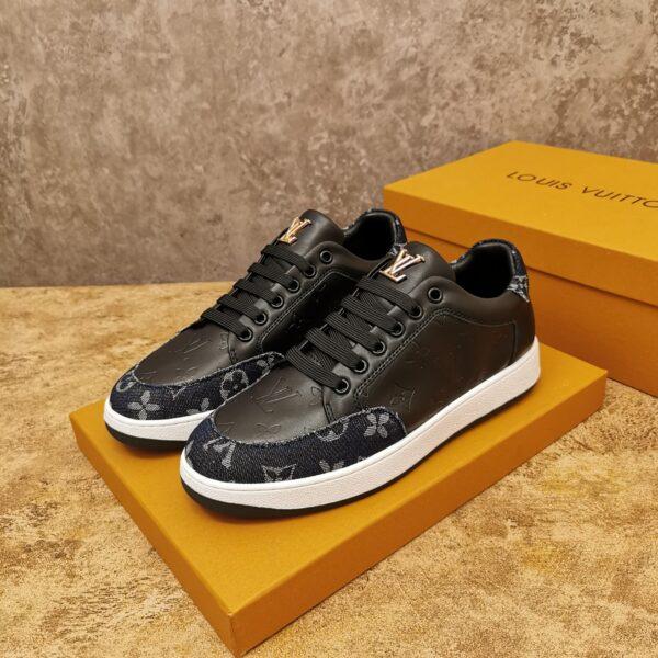 Giày Louis Vuitton cổ thấp siêu cấp màu đen