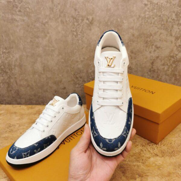 Giày Louis Vuitton cổ thấp siêu cấp màu trắng