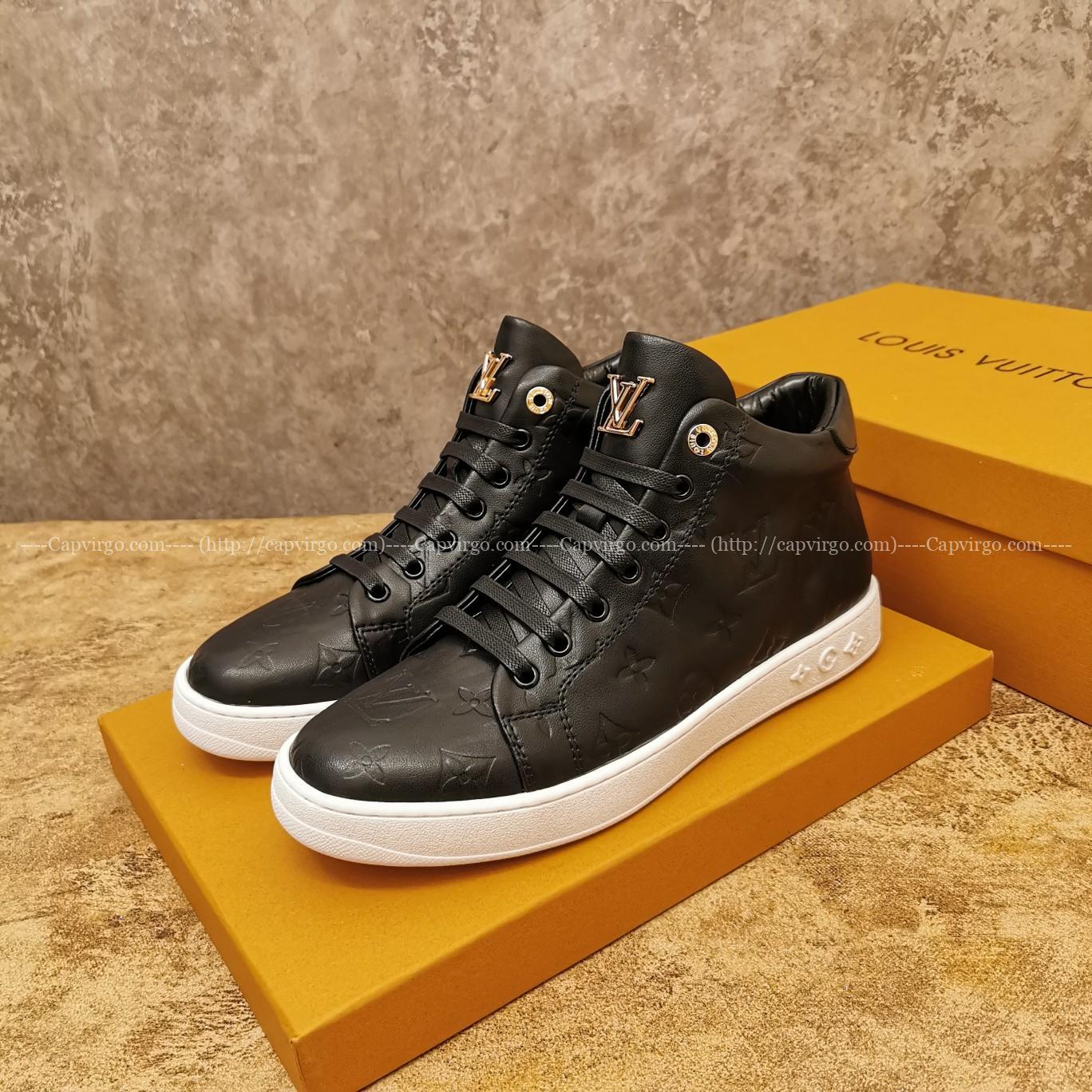 Giày Louis Vuitton cao cổ siêu cấp màu đen