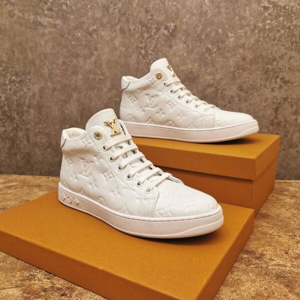 Giày Louis Vuitton cao cổ siêu cấp màu trắng