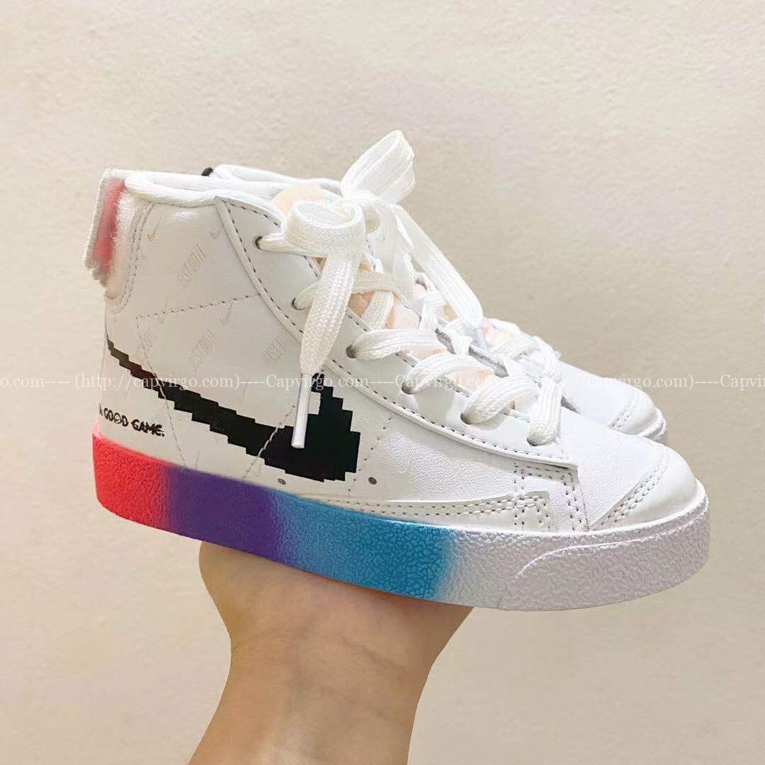 Giày nike trẻ em Traiblazer video game màu trắng T3 Dạ quang