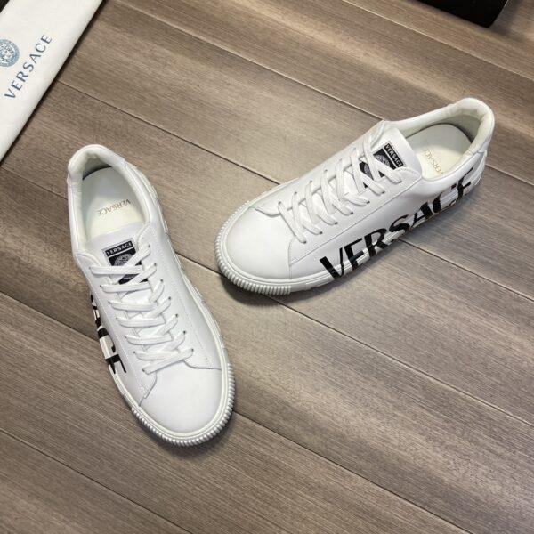 Giày Versace Original Single Vasachi trắng hoạt tiết chữ Versace