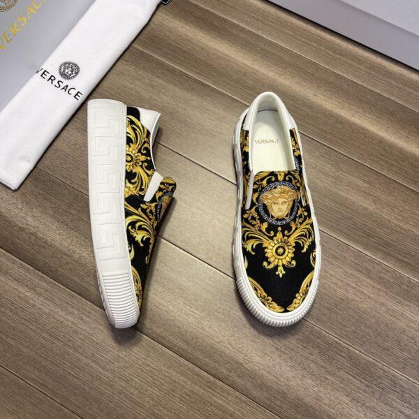 Giày Versace Original Single màu đen ht vàng