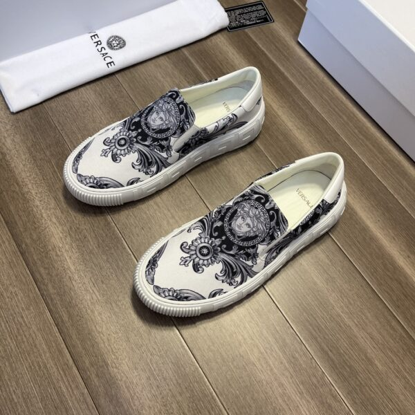 Giày Versace Original Single trắng đen