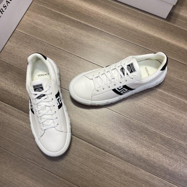 Giày Versace Original Single Vasachi trắng vạch đen