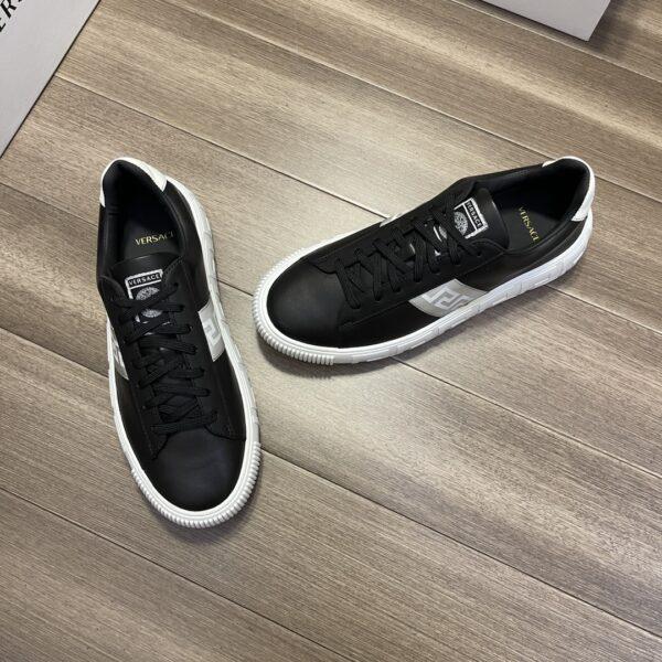 Giày Versace Original Single Vasachi đen vạch ghi