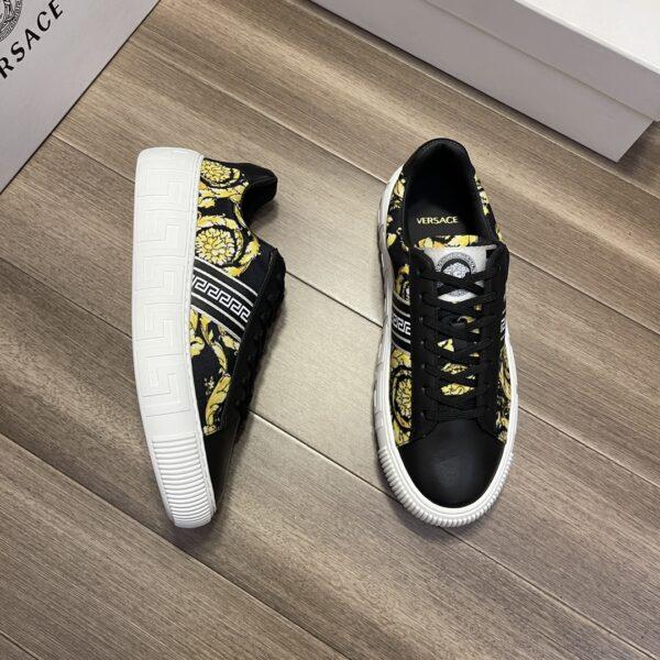 Giày Versace Original Single Vasachi đen vàng