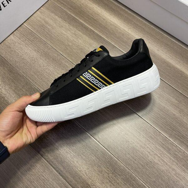 Giày Versace Original Single Vasachi đen 3 sọc