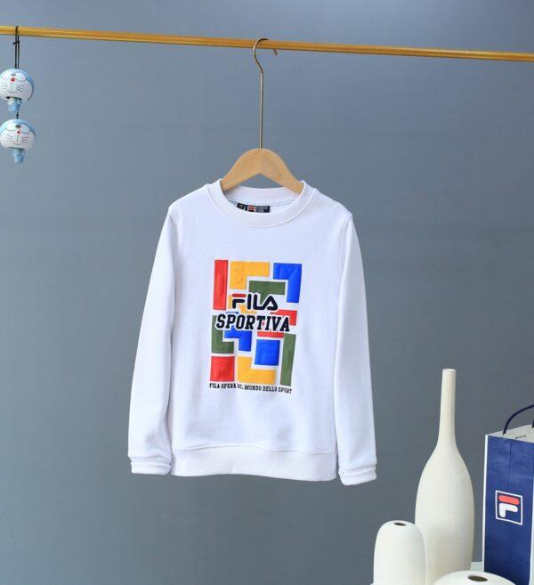 Bộ quần áo Fila trẻ em mùa thu mẫu mới