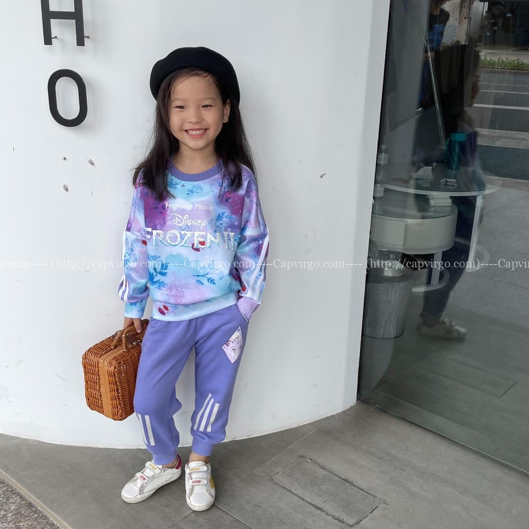 Bộ Adidas bé gái công chúa Aisha Disney Frozen II