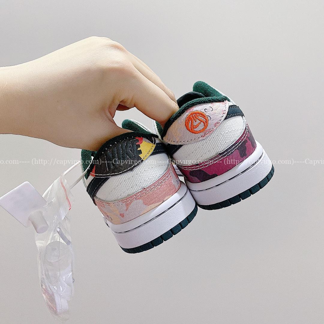 Giày Nike SB Dunk trẻ em màu ghi