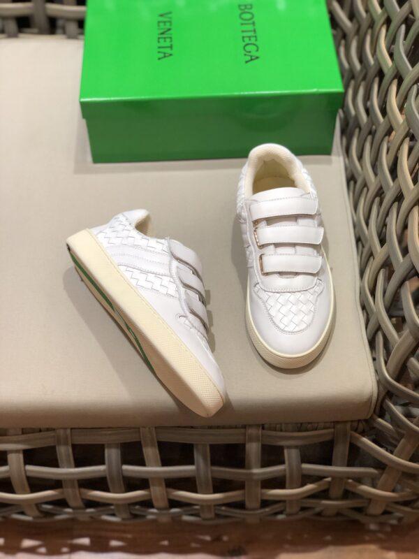 Giày Bottega Veneta cổ thấp màu trắng