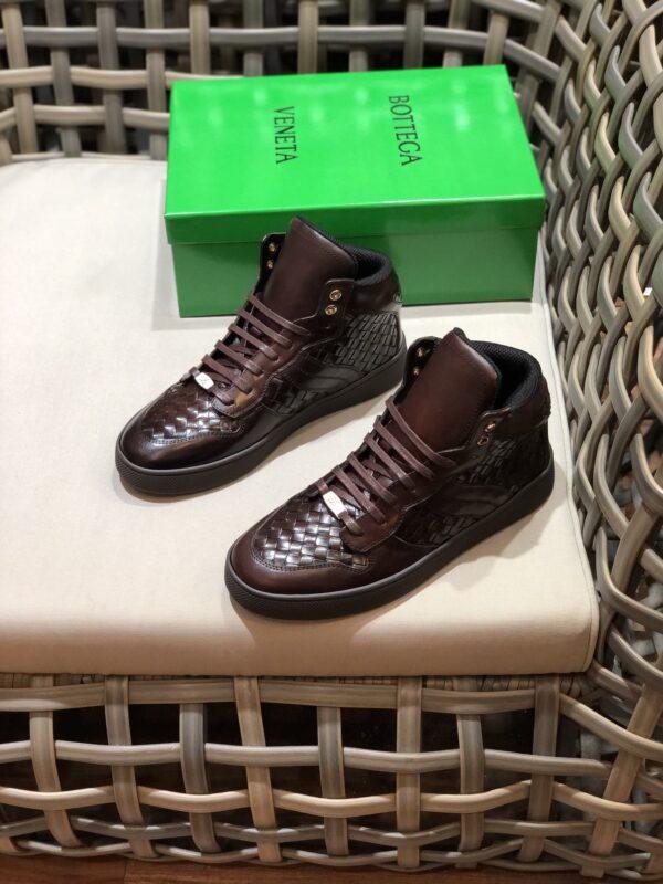 Giày Bottega Veneta cao cổ màu nâu