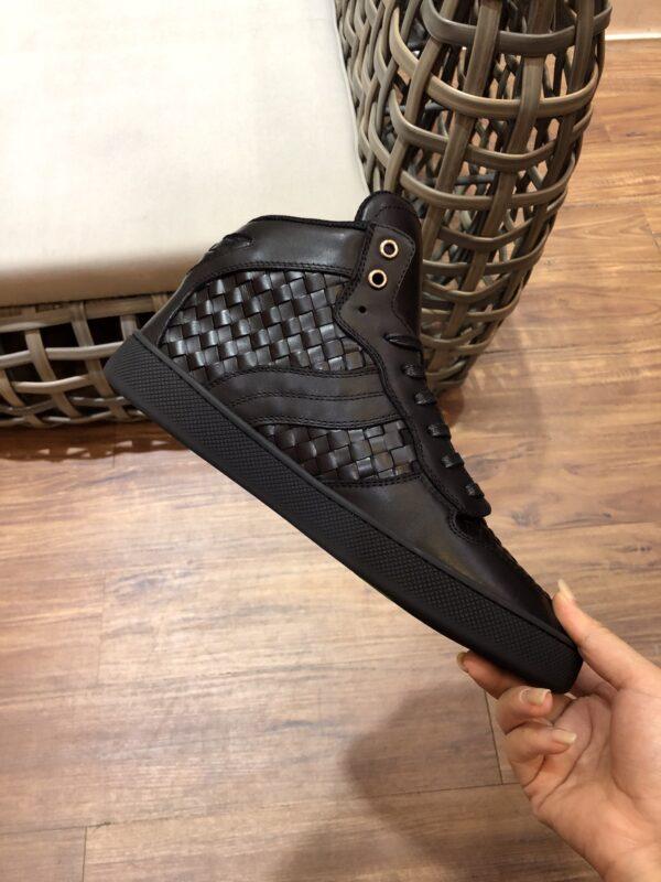 Giày Bottega Veneta cao cổ full đen