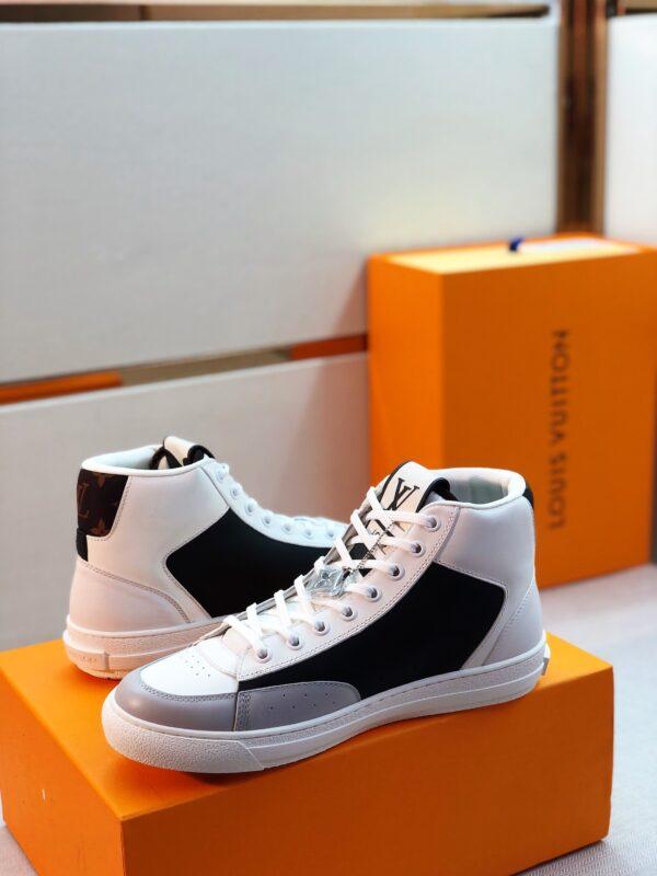 Giày Louis Vuitton cao cổ viền ghi