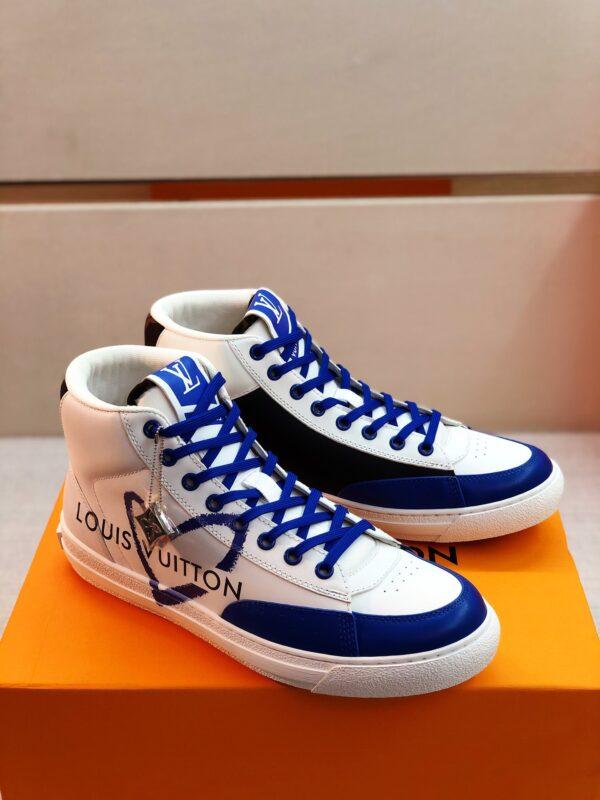 Giày Louis Vuitton cao cổ viền xanh
