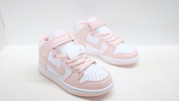 Giày nike sb mid-cut dunk trẻ em màu trắng pha hồng