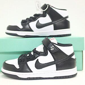 Giày nike sb mid-cut dunk trẻ em màu đen trắng