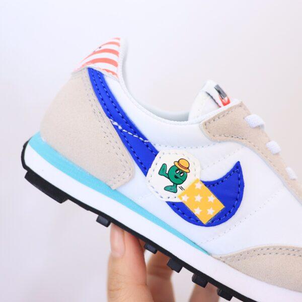 Giày nike trẻ em Waffle II phiên bản G đặc biệt logo xanh hoạt tiết