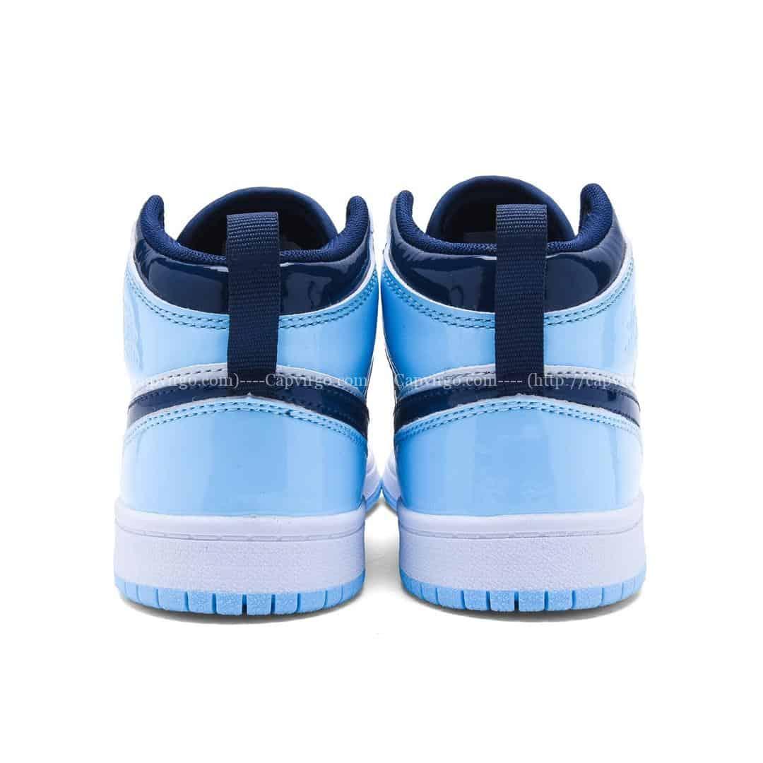 Giày air Jordan 1 trẻ em màu xanh da bóng